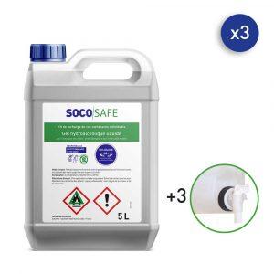 gel hydroalcoolique bidon 5L avec robinet