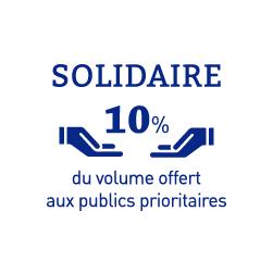 Pictogramme blanc des dons solidaires de gels et solutions hydroalcooliques SOCOSAFE