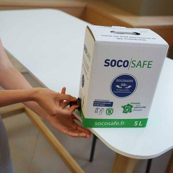 Distributeur de gel hydroalcoolique Bag in Box 5L avec robinet