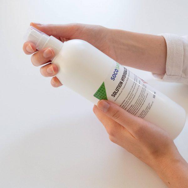 solution hydroalcoolique esolution hydroalcoolique en spray de 500 mln spray de 500 ml en action