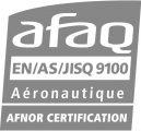 Logo Afaq EN AS JISQ 9100 en gris